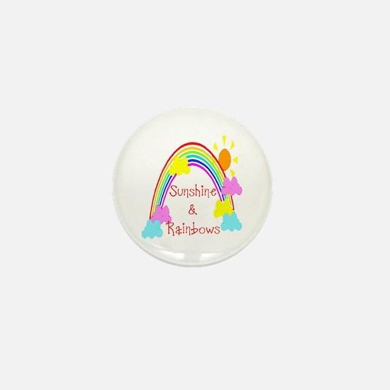 Sunshine Rainbows Mini Button
