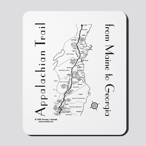 Appalachian Trail Map Mousepad