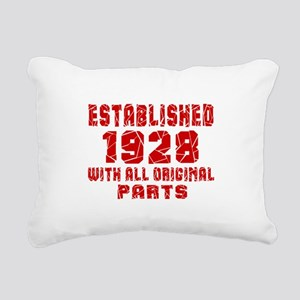 Established 1928 With Al Rectangular Canvas Pillow