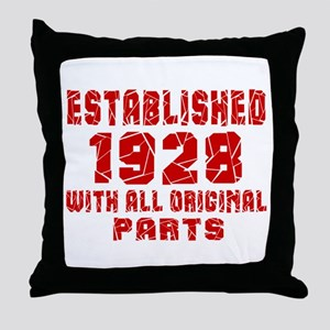 Established 1928 With All Original Pa Throw Pillow