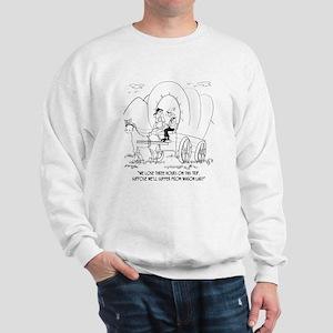 Lose Three Hours on Wagon Train Trip Sweatshirt