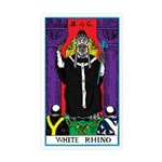 WHITE RHINO TAROT CARD Sticker