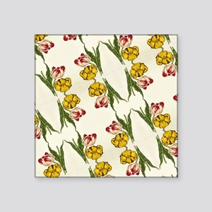 "spring lily botanical art f Square Sticker 3"" x 3"""
