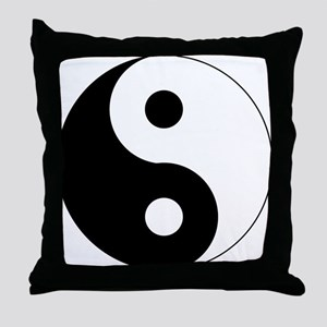 Yin & Yang (Traditional) Throw Pillow
