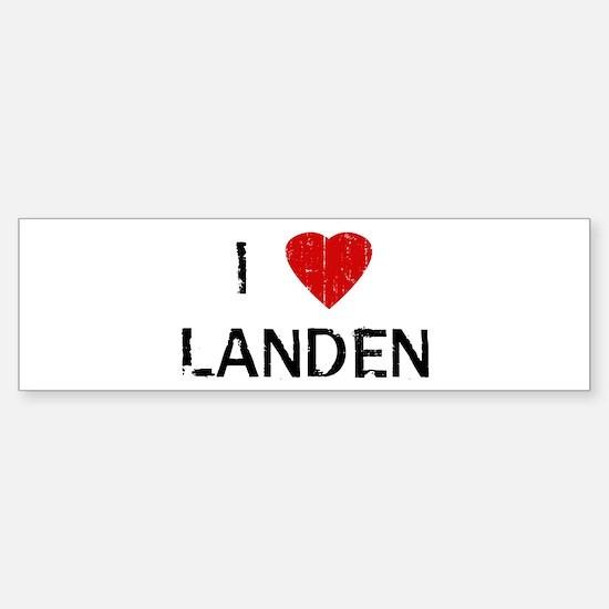 I Heart LANDEN (Vintage) Bumper Bumper Bumper Sticker