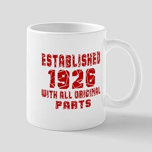 Established 1926 With All Original Part Mug