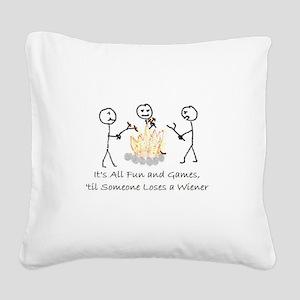 Lost Wiener Square Canvas Pillow