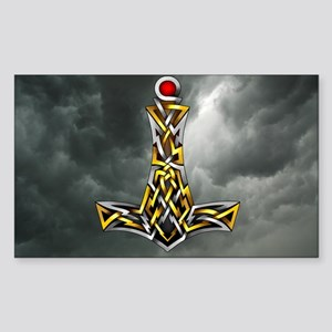 Thor's Hammer Sticker (Rectangle)