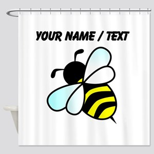 Custom Bumble Bee Shower Curtain