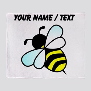 Custom Bumble Bee Throw Blanket
