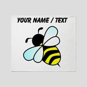 Custom Bumble Bee Throw Blanket