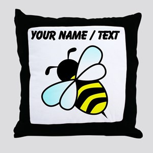 Custom Bumble Bee Throw Pillow