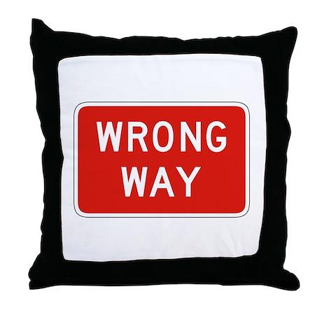 Wrong Way - USA Throw Pillow