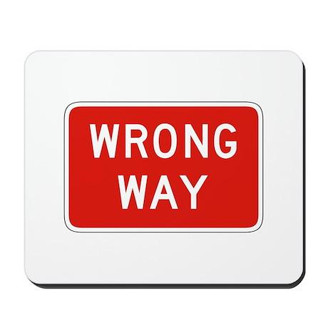 Wrong Way - USA Mousepad