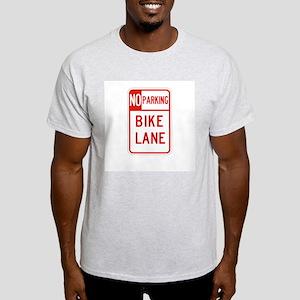 No Parking Bike Lane - USA Ash Grey T-Shirt