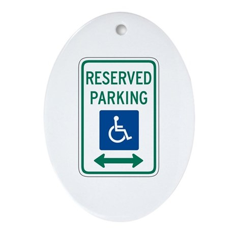 Reserved Parking Handicapped - USA Oval Ornament