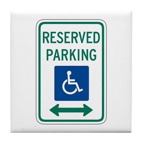 Reserved Parking Handicapped - USA Tile Coaster