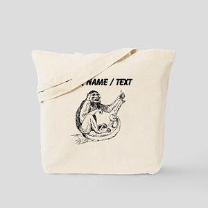 Custom Capuchin Monkey Sketch Tote Bag