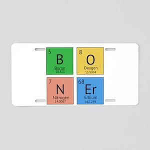 Chemistry Boner Aluminum License Plate