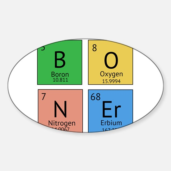 Chemistry Boner Sticker (Oval)