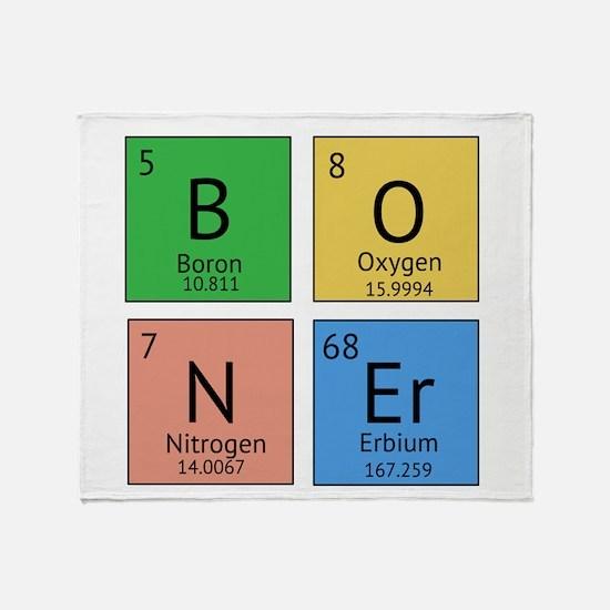 Chemistry Boner Throw Blanket