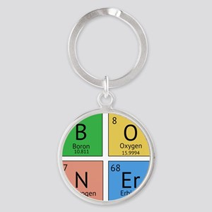 Chemistry Boner Round Keychain