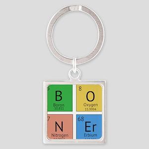 Chemistry Boner Square Keychain