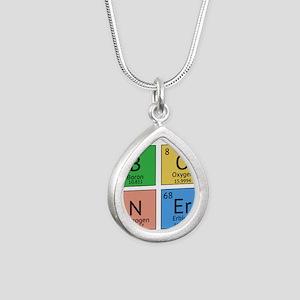 Chemistry Boner Silver Teardrop Necklace