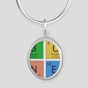 Chemistry Boner Silver Oval Necklace
