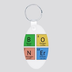 Chemistry Boner Aluminum Oval Keychain