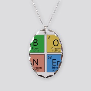 Chemistry Boner Necklace Oval Charm