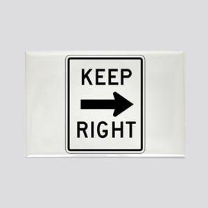 Keep Right - USA Rectangle Magnet
