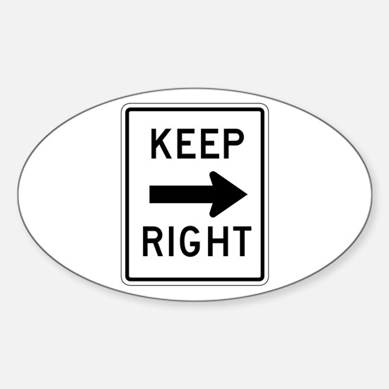 Keep Right - USA Oval Decal