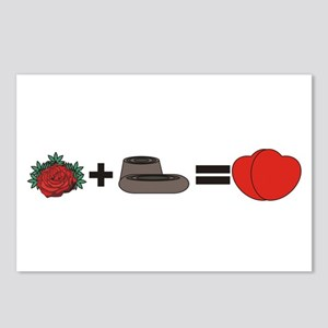 Flowers + Chocolate = Love Postcards (Package of 8