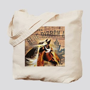western horse woodgrain text Tote Bag
