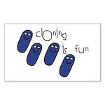Cloning is Fun Rectangle Sticker