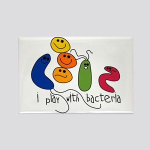 Play with Bacteria Rectangle Magnet
