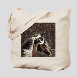 western horse leather pattern Tote Bag