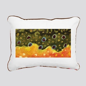 Trout Fly Fishing Rectangular Canvas Pillow