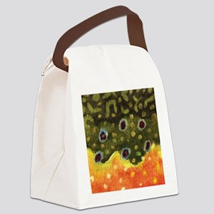 Trout Fly Fishing Canvas Lunch Bag