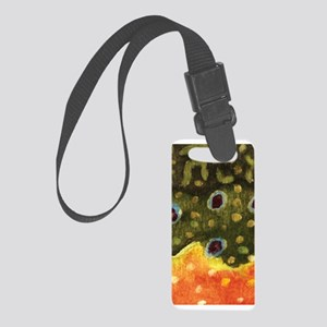 Trout Fly Fishing Small Luggage Tag