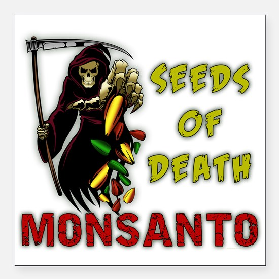 """Seeds of Death Square Car Magnet 3"""" x 3"""""""