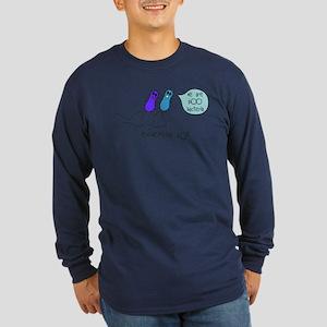 Poo Bacteria Long Sleeve Dark T-Shirt