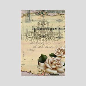 chandelier rose scripts floral pa Rectangle Magnet