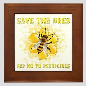 Save The Bees Framed Tile
