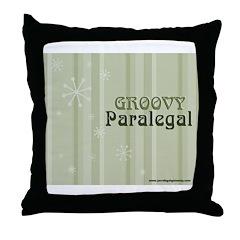 Groovy Paralegal Throw Pillow