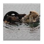 California Sea Otter Tile Coaster