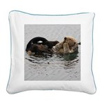 California Sea Otter Square Canvas Pillow
