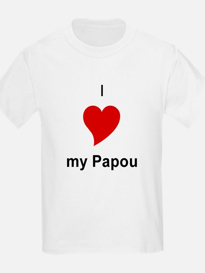 I Love My Papou Kids T-Shirt