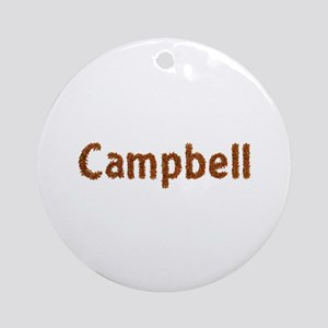 Campbell Fall Leaves Round Ornament
